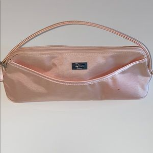 Auth Dior beauty make up pouch cloth clutch bag